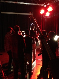 "Using the big boom arm on ""Spin Control"", directed by Andy Kirshner."