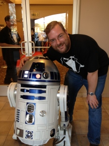 I got to meet my favorite little droid R2D2 at a charity trivia event!