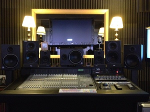 The mixing room at Sound Investment Studio, where I assemble projects and do 5.1 surround mixes.  Great place to review material with clients.